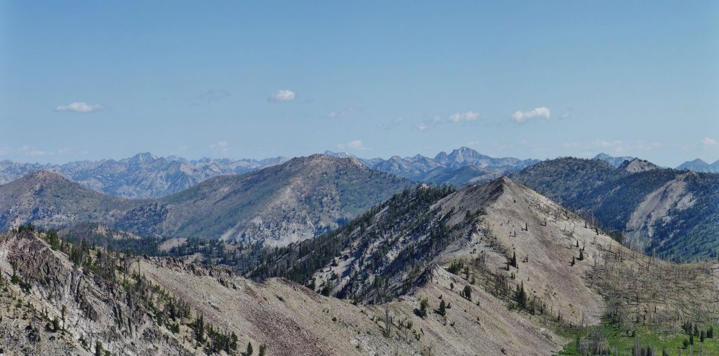 Looking toward the Sawtooths from Gunsight. Eric Stewart Photo