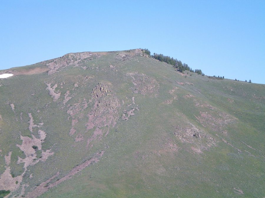 The East Face of Pine Mountain as viewed from Peak 6667. Livingston Douglas Photo
