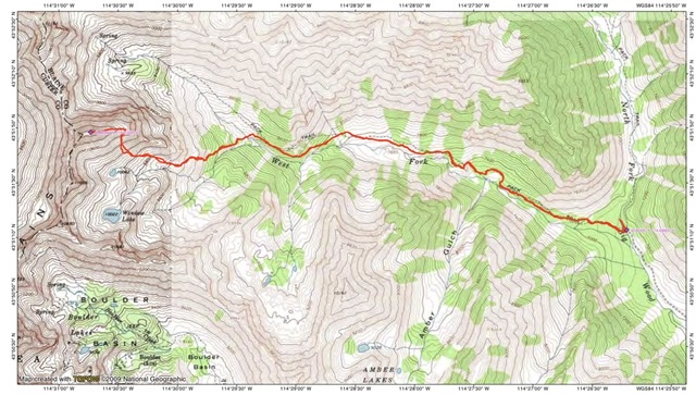 John Platt's GPS track. His route was 9.6 miles round trip with 4,538 feet of gain.