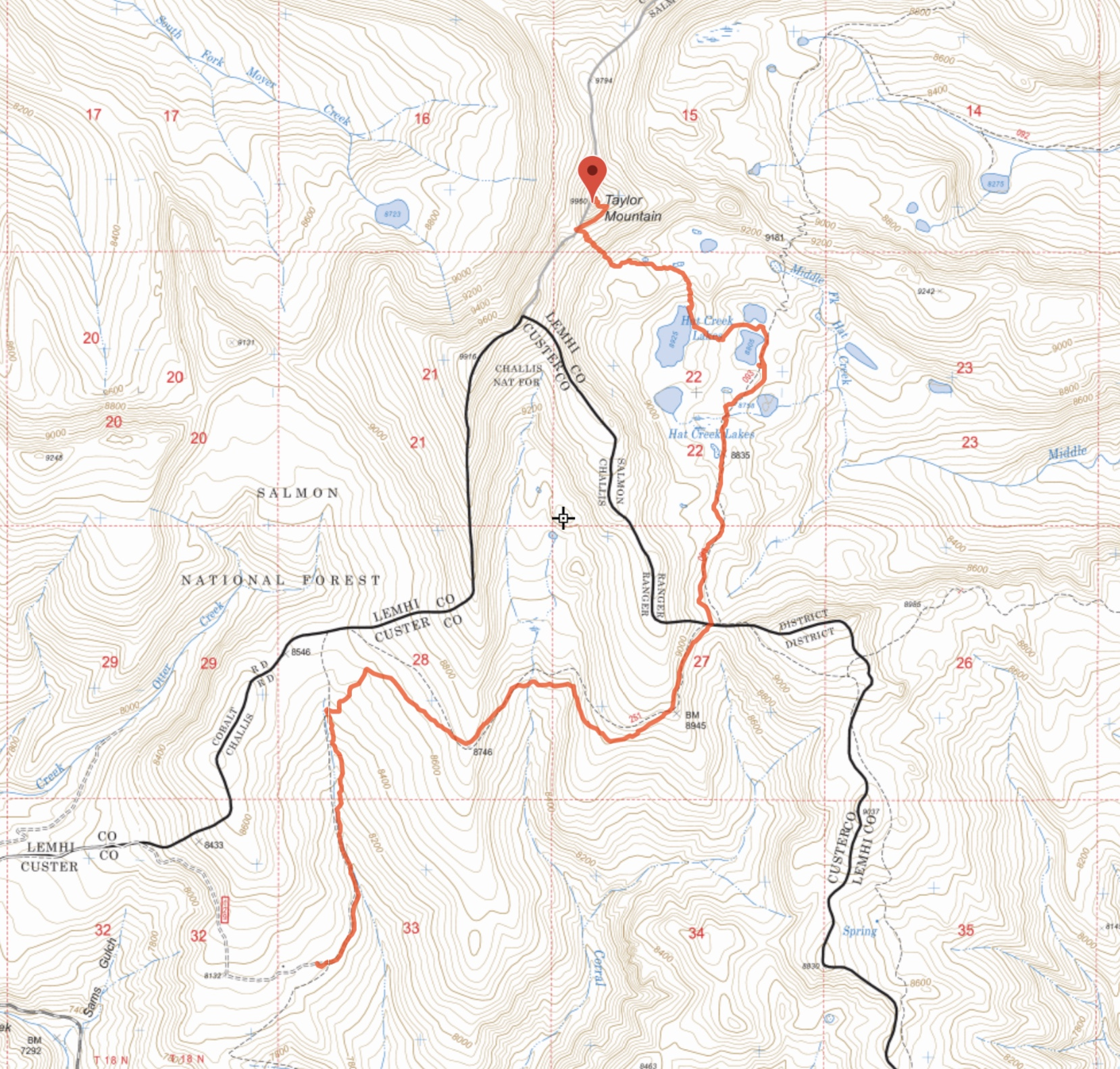 Ken Jones' GPS track. His round trip totals were 11.8 miles with 3,150 of gain (625 feet on the return trip).