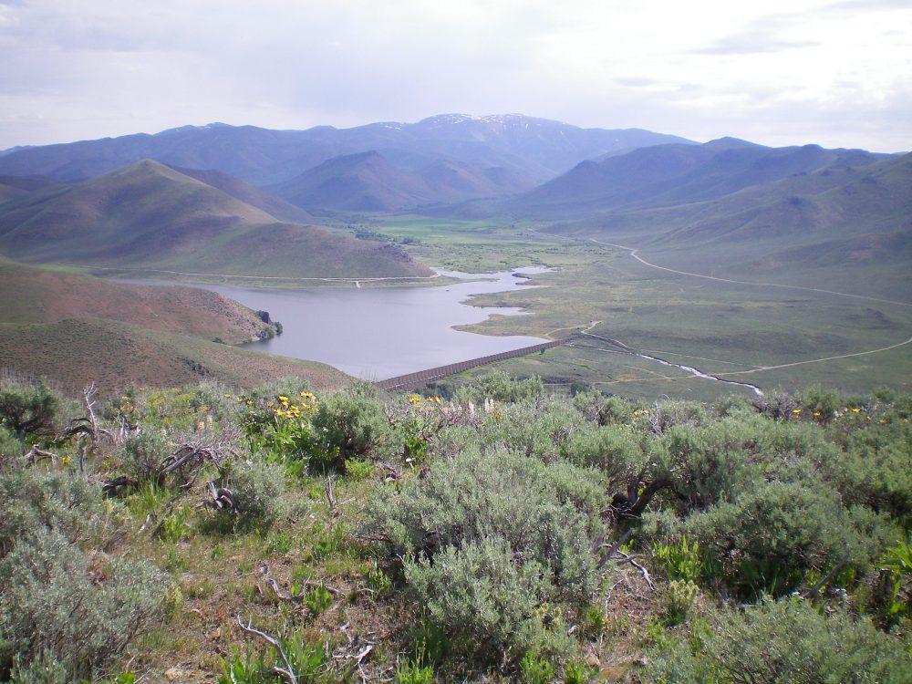 Fish Creek Reservoir as viewed from the summit of Peak 6190. Livingston Douglas Photo