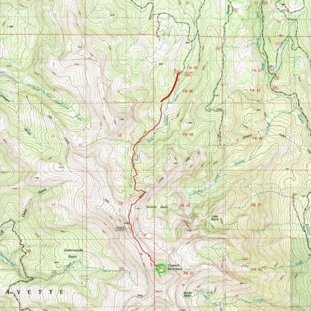 Ken Jone's GPS track.