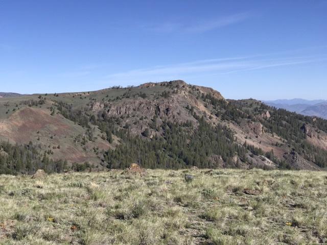 Peak 9578 viewed from Peak 9344.