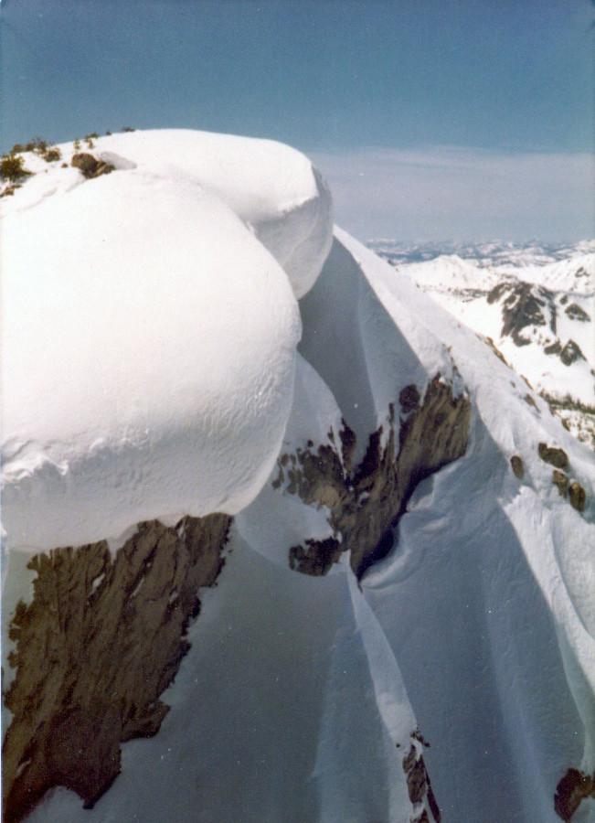 The summit cornices on 9709. Bob Boyles photo
