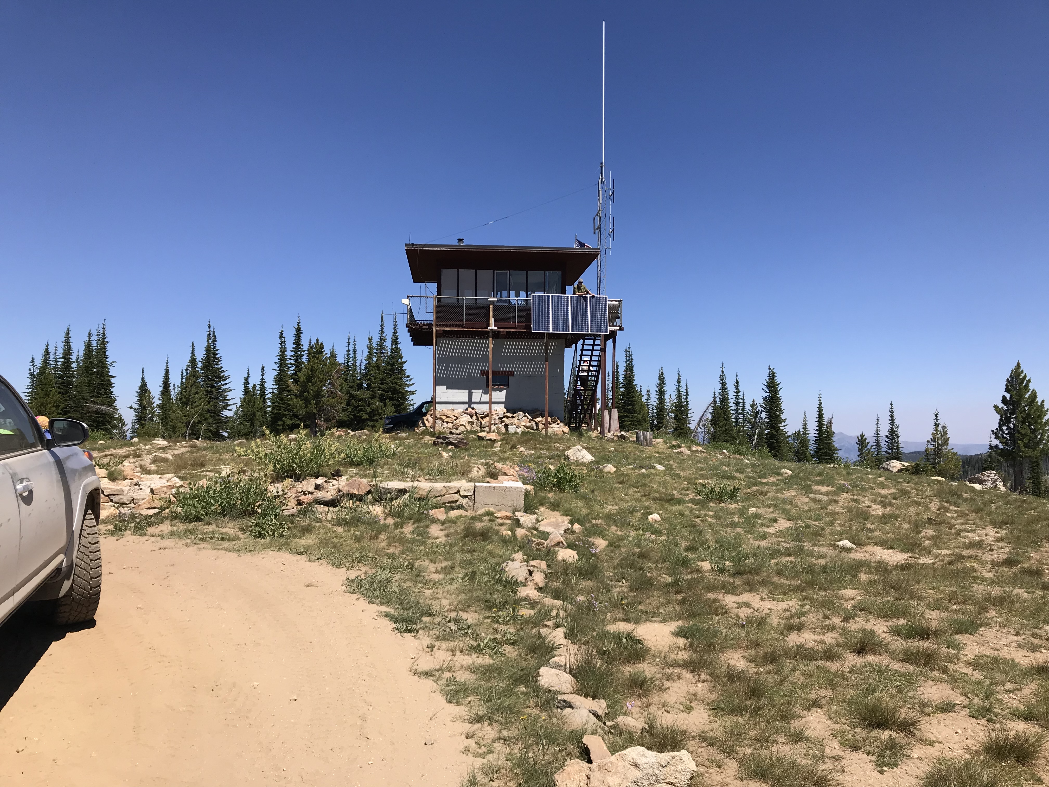 War Eagle Mountain is the home of an active fire lookout each summer. It is reached by a 4WD road to its summit.