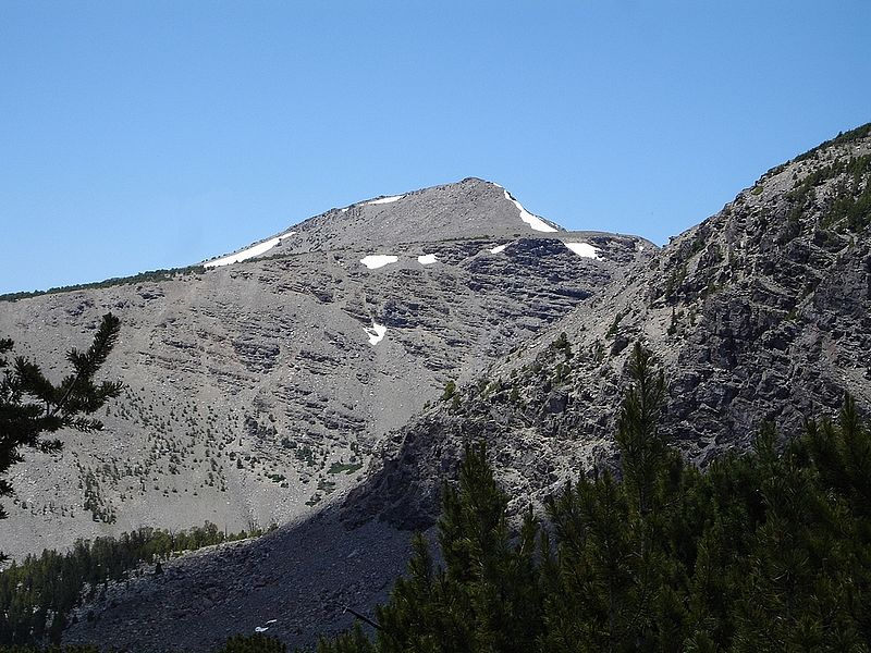 Big Eightmile Peak from the slopes east of Yellow Lake. Dave Pahlas Photo
