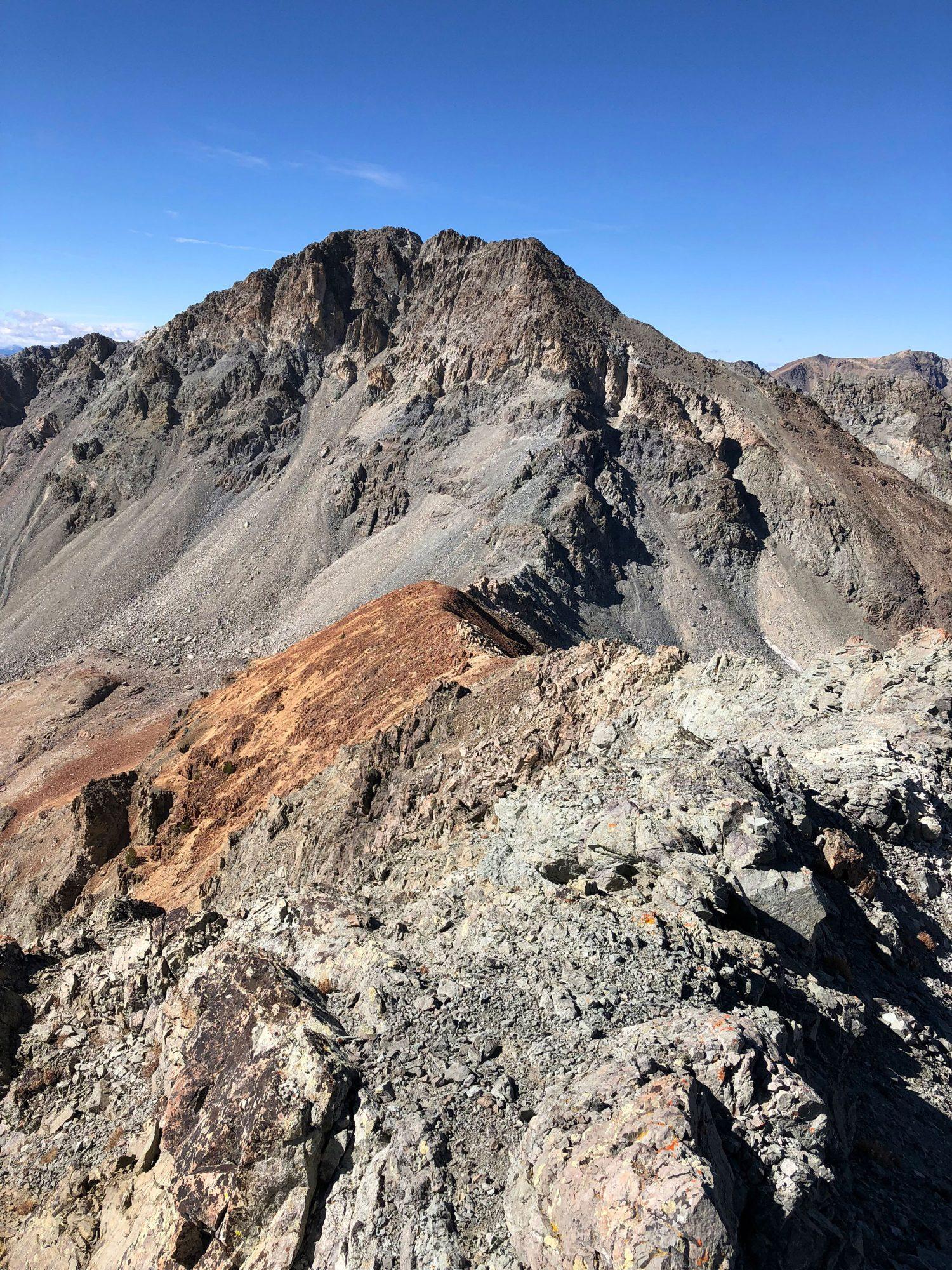 Looking at the east ridge of Silver Peak from 10,960+. Derek Percoski Photo