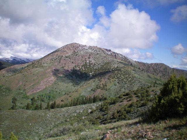 Slate Mountain as viewed from the summit of Peak 6472. Livingston Douglas Photo