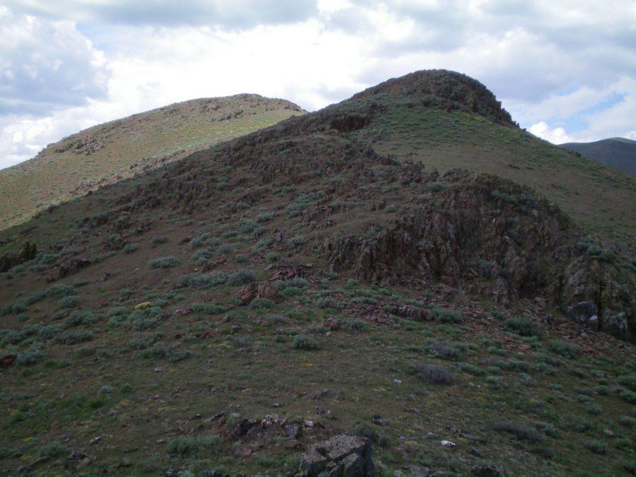 The upper section of the South Ridge of Peak 5764. Livingston Douglas Photo