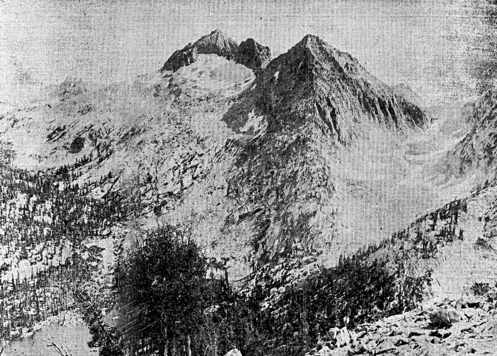 Robert Limbert's 1927 photo of Snowyside Peak viewed from the north.