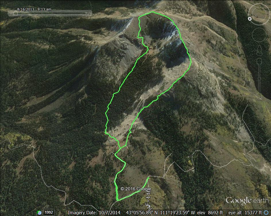 Margo Mandella's GPS track for the route.