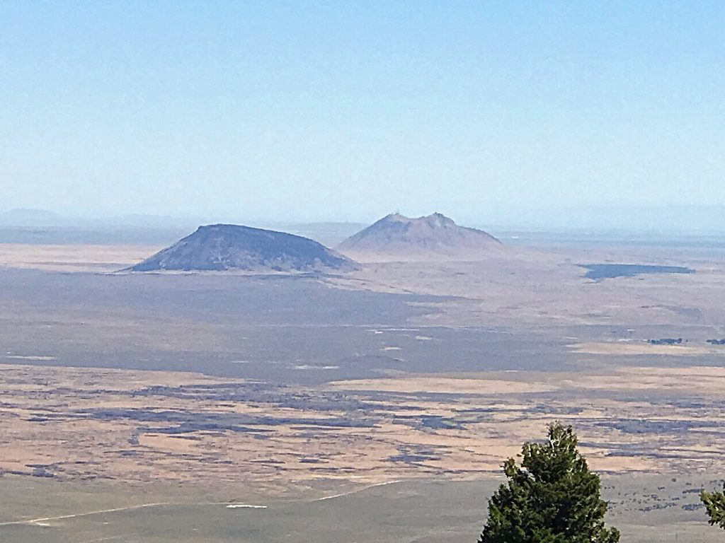 The Twin Buttes are two more impressive volcanic features located east of Big Southern Butte.