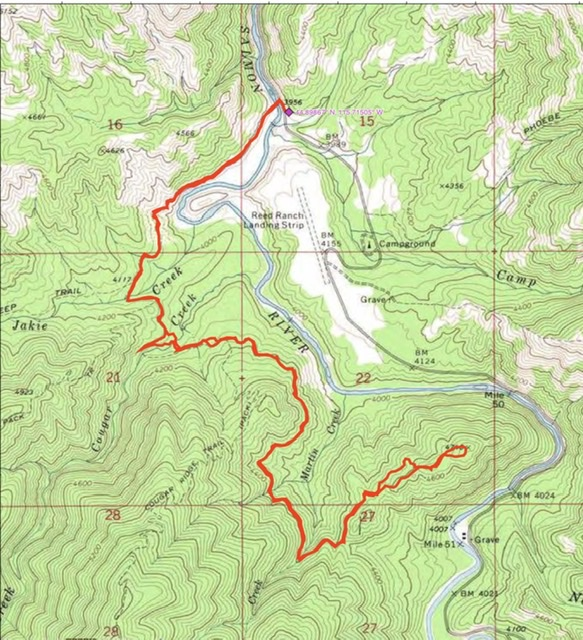 John Platt's GPS track. His route covered 8.4 miles with 1,260 feet of elevation gain round trip.