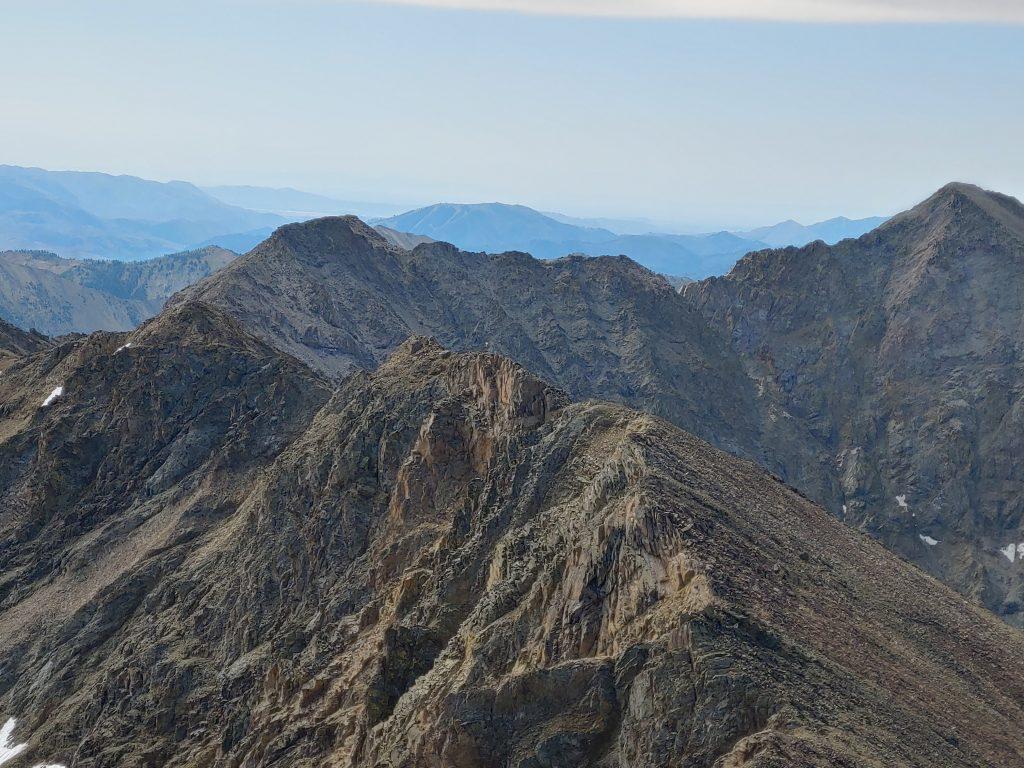 Looking down the south ridge. Brett Sergenian Photo
