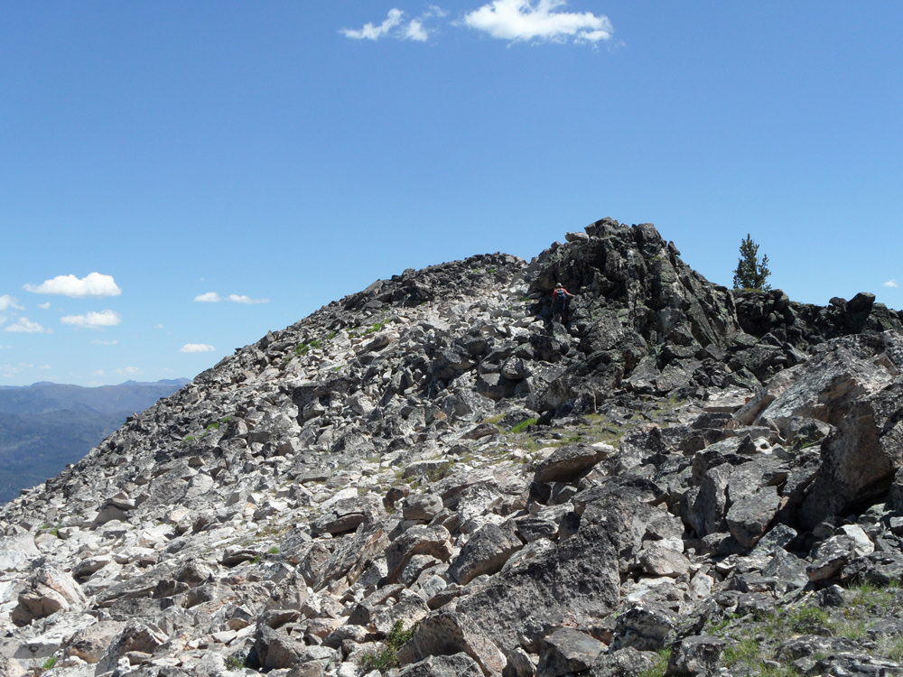 The summit of Shell Rock Peak. John Platt Photo