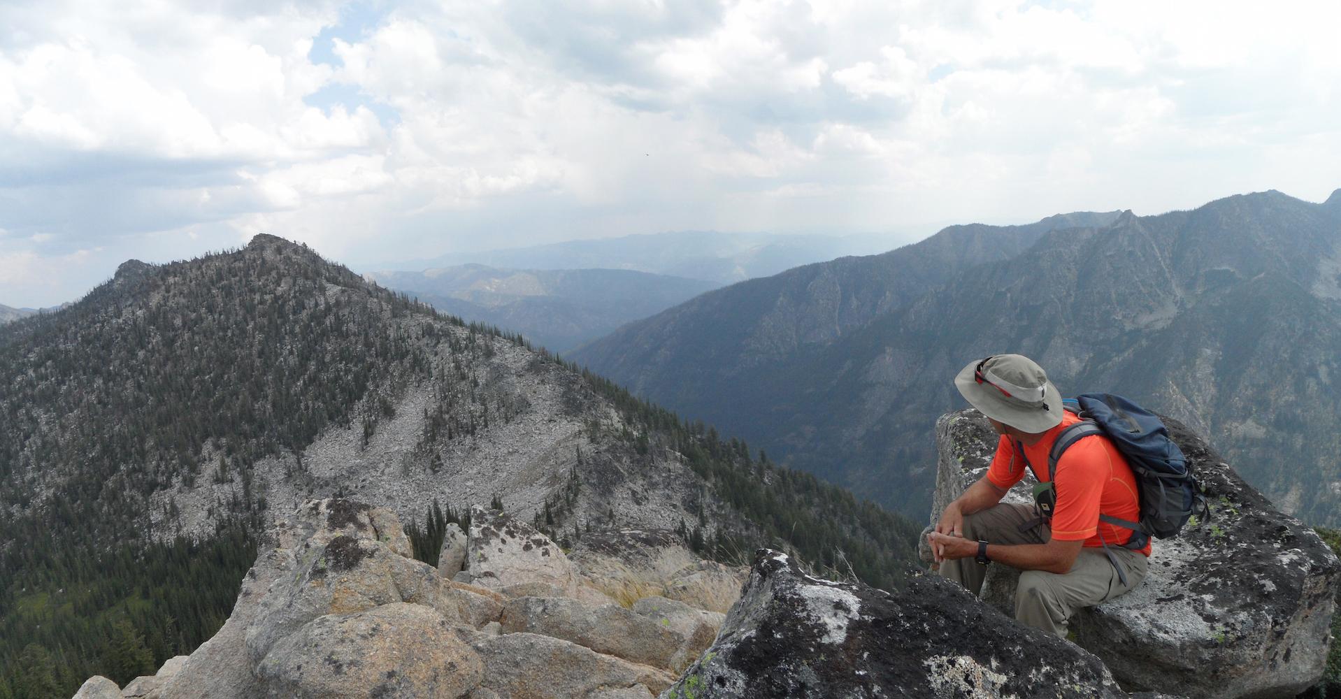 Looking from Ho Peak to Hum #3. John Platt Photo