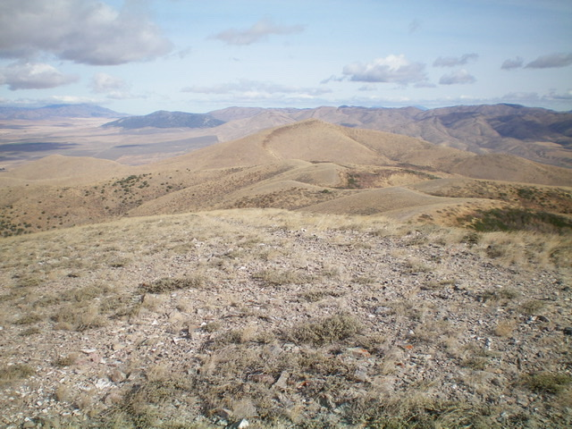 Looking north from the summit of North Hansel Mountains HP. Peak 6774 is in mid-ground (dead center). Livingston Douglas Photo