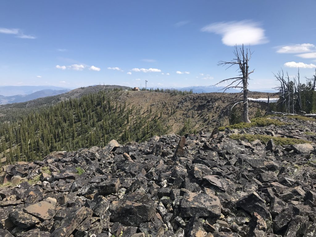 Looking toward Baldy from the summit.