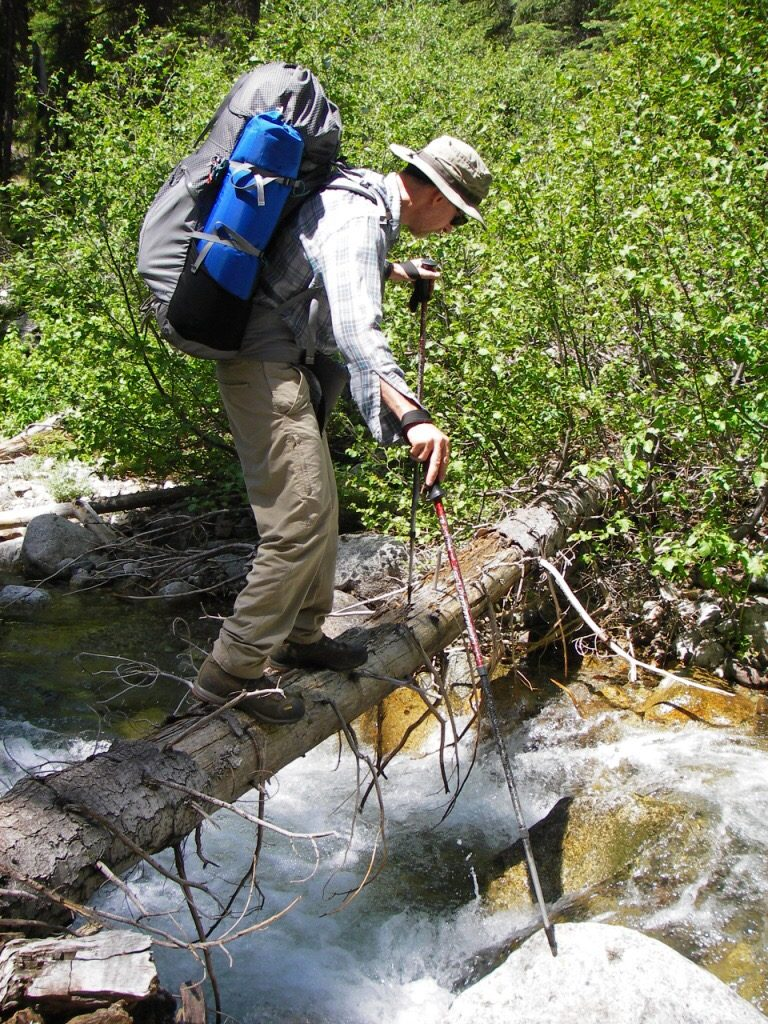 One of our many log-assisted creek crossings. Judi Steciak Photo