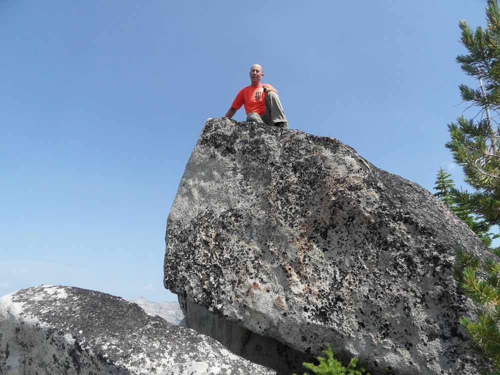 John Fadgen on the summit of Hum Peak. John Platt Photo