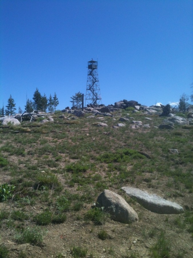 Bear Valley Mountain summit contains one of the scariest fire lookouts I have visited.