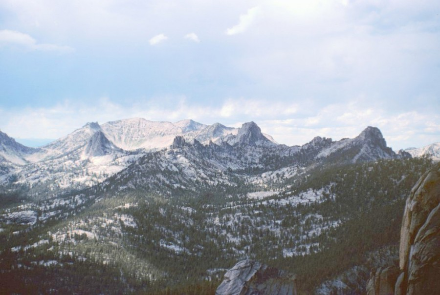 The Bighorn Cras from the summit of Cathedral Rock.