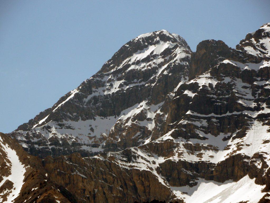 From left to right, The East Ridge, East Face, Upper East Ridge, and the Upper East Face. Photo by John Platt