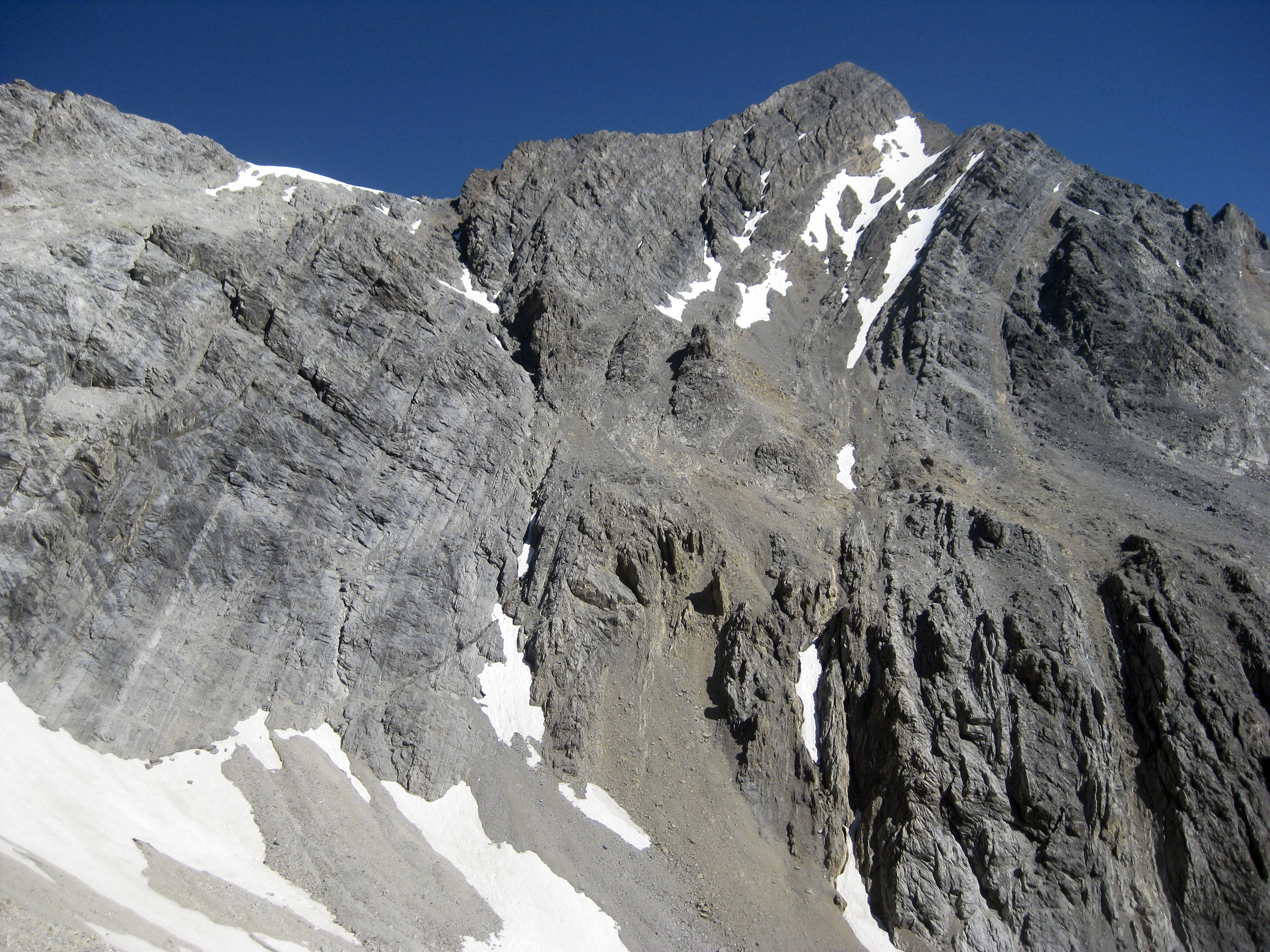 Mount Borah's South Face and South Couloir. Photo - Wes Collins