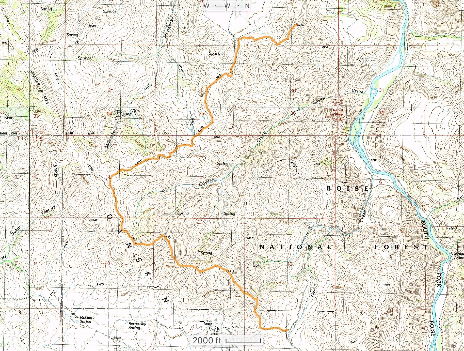 GPS track.