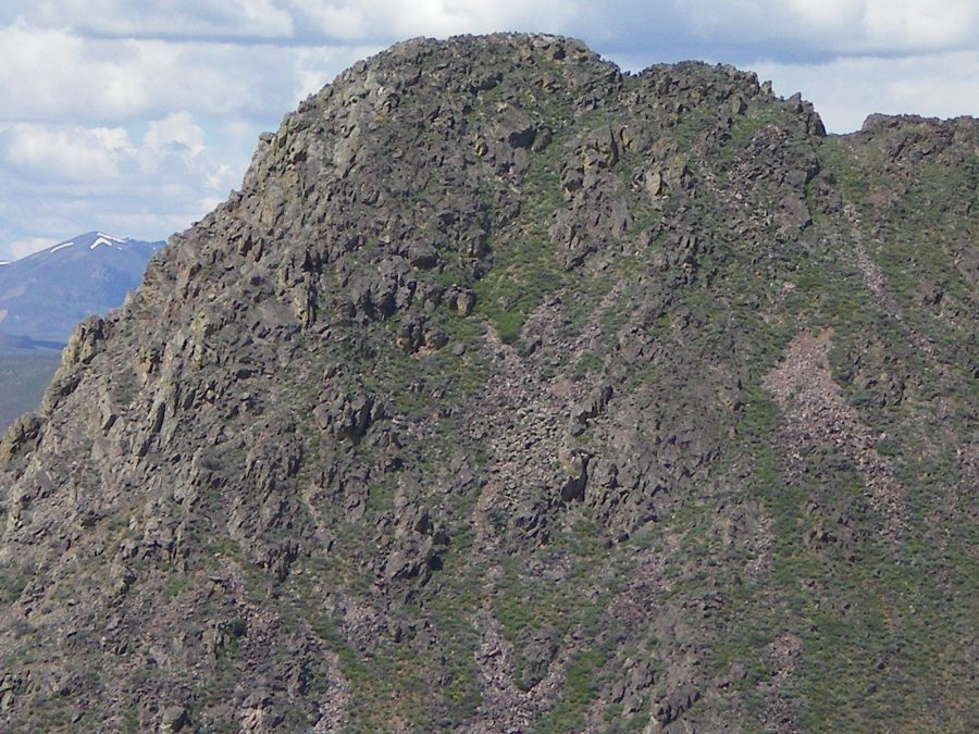 The rugged East Face of Peak 6684 as viewed from the South Ridge of nearby Peak 6541. Livingston Douglas Photo