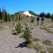 Cougar Peak's summit viewed from the North Ridge. Dave Pahlas Photo