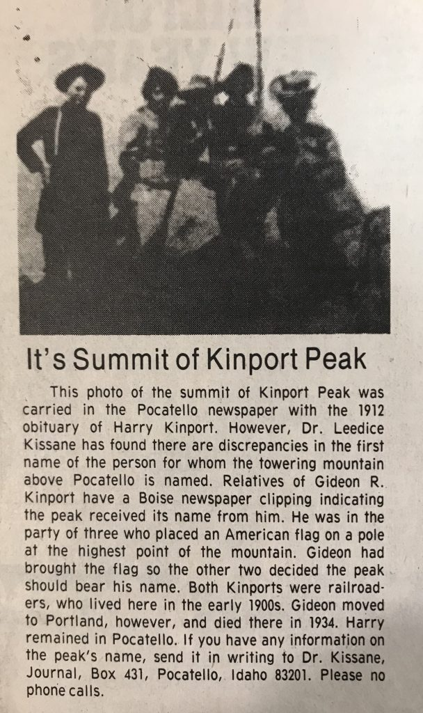 An article from the Idaho State Journal. Date unknown.