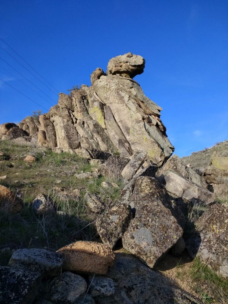 This one of the granite outcrops rocks next to the trail I use to practice climbing. Paul Jurzcak Photo