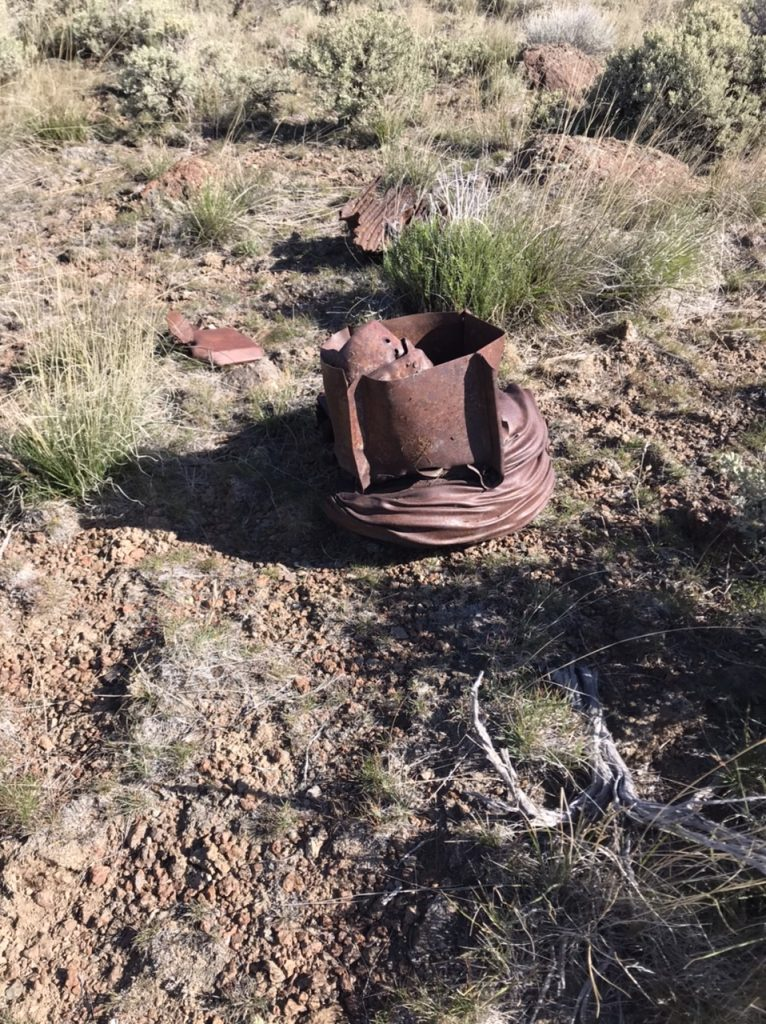 There are several of these metal relics on the summit. I am not sure what they are.