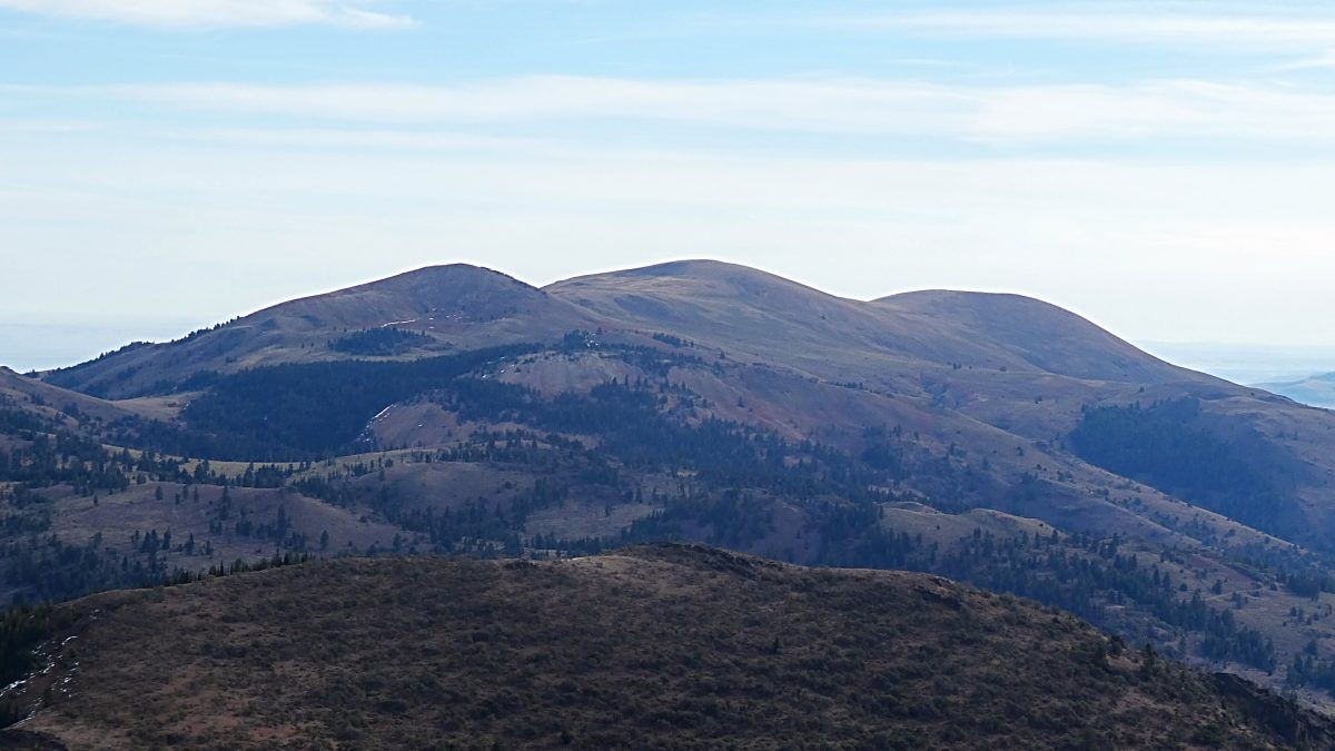 Quicksilver Mountain viewed from Peak 8021.