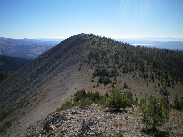 Slide Mountain and its gentle west ridge (center) as viewed from the northwest. Livingston Douglas Photo