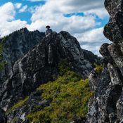 The summit of Peak 8162 (The Slide). John Platt Photo