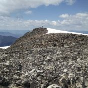 Looking toward the summit. Jeff Hunteman Photo
