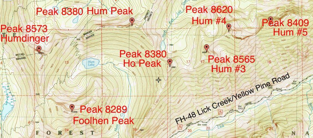 Hum Ridge Peaks.