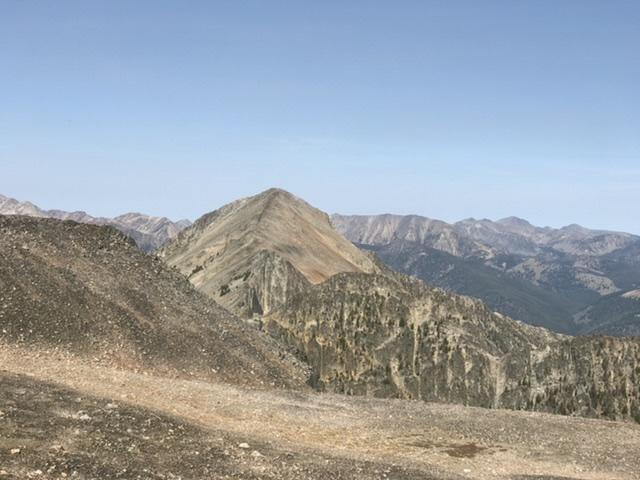 Mogg Mountain viewed from Buffalo Skull Peak.
