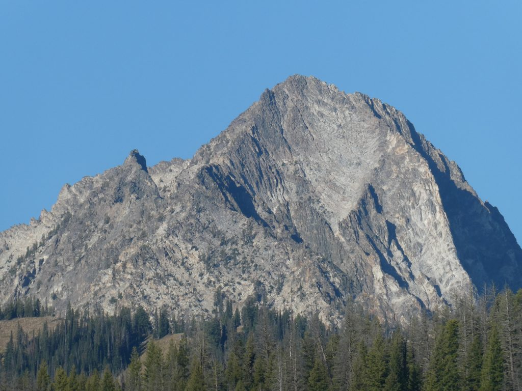 Horstman Peak viewed from Redfish Lake.