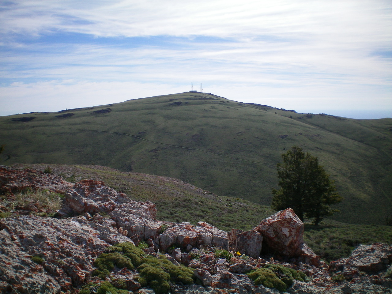 The West Face of Howe Peak as viewed from the summit of Peak 8603. Livingston Douglas Photo