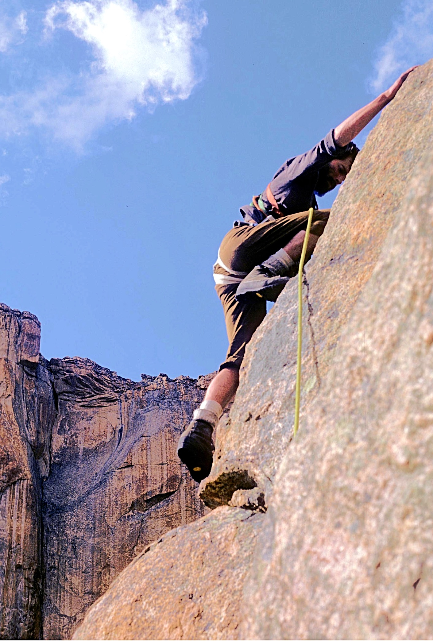 Harry climbing above. Ray Brooks Photo