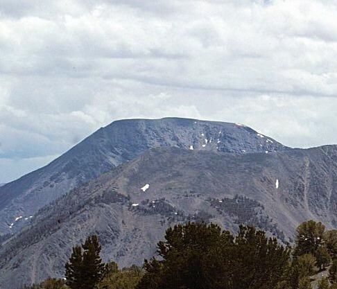 Flat Iron Peak from Yellow Pass.