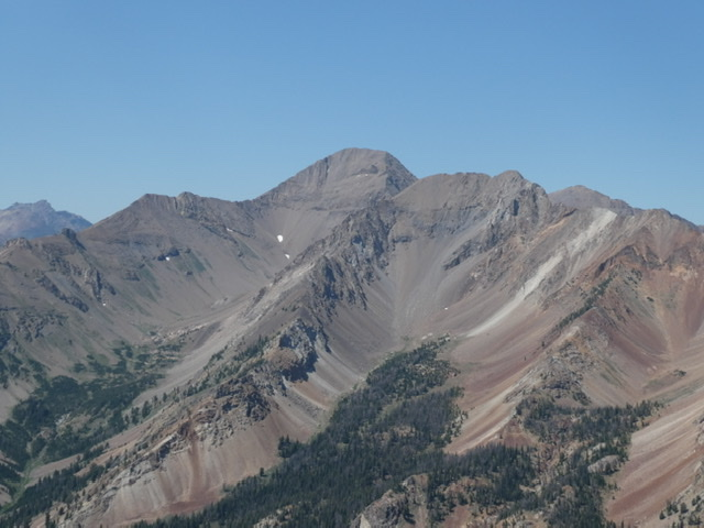 Kent Peak viewed from Hemingway Peak.