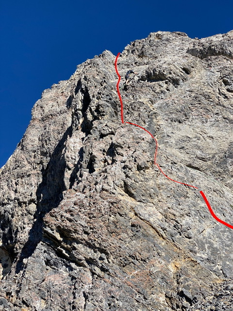 This photo shows the upper portion of the route. Derek Percoski Photo