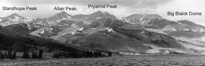 Pioneer Mountains.
