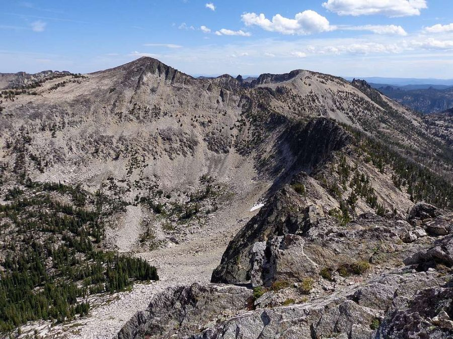 Sheepeater Mountain viewed from Waterfall Creek Peak. Dave Pahlas Photo