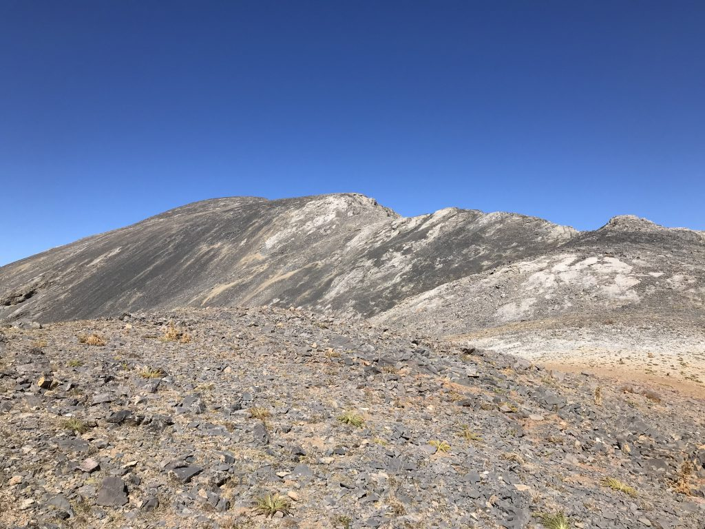The nearly never ending Southeast Ridge from its southern end.