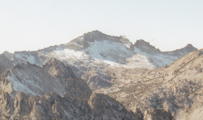 Was the glacier located below Snowyside Peak's northern face?